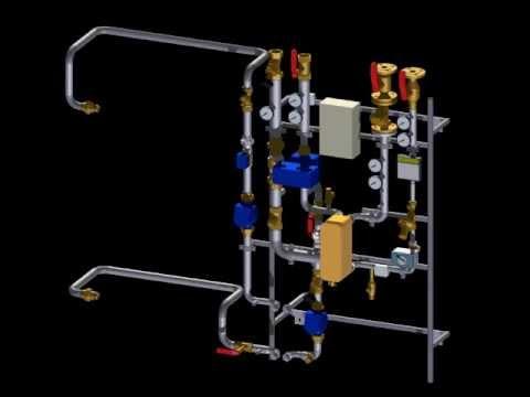 Fernwärmestation mit Plattenwärmetauscher (PWTG) und ...