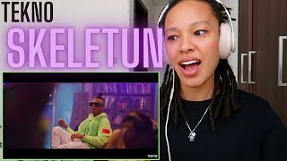 Only One Way To Describe This Song ..  Afro🔥🔥  Tekno - Skeletun (Official Video) [REACTION!!]