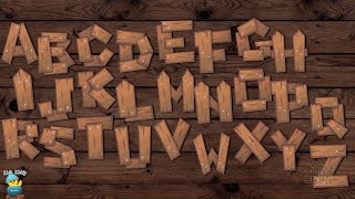 ABCD Song Wooden Letters Theme | Alphabet Song | A to Z for Children | 2D Animation | Kids Kiddy