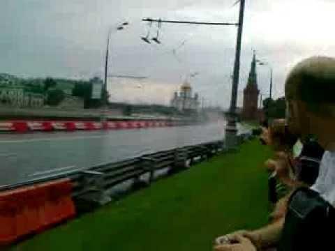 Team Lotus F1 passing by near Kremlin