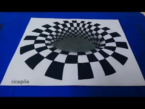 Mudah Banget! Cara Menggambar Lubang Hitam 3D