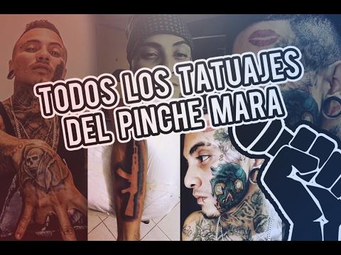 Todos los tatuajes de EL PINCHE MARA y su SIGNIFICADO | 2017 | Rap Para Todos.