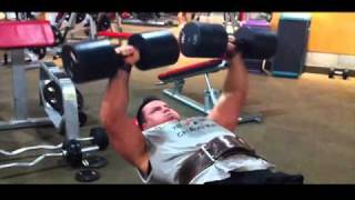 Incline DB PRess 125lbs dumbbells