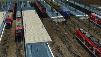Transport Fever - Impressionen der Bastelkasten Karte #02 - Bahnhof Winterthur