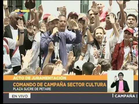 Juramentan Comando de Campaña de Cultura en la plaza Sucre de Petare