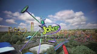 NEW FOR 2019 at Six Flags Fiesta Texas: The Joker Wild Card, DC Universe (Official Video)