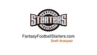 Fantasy Football Starters - Draft Analyzer, Custom Cheat Sheets 2015