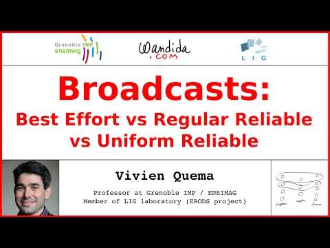 Broadcasts: Best Effort vs Regular Reliable vs Uniform Reliable | Vivien Quema