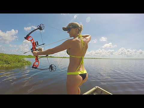 Bikini Bowfishing For Tilapia - Central Florida - Part 1