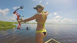 Bikini Bowfishing for Tilapia - Central Florida - Part 1