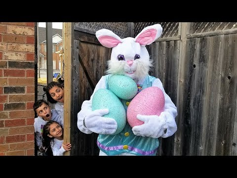 Easter Egg hunt Surprise Toys Challenge for Kids Pretend Play