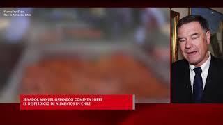 Senador Manuel Ossandón comenta sobre el desperdicio de alimentos en Chile
