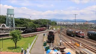 京都鉄道博物館 扇形庫と留置線の全景 Kyoto Railway Museum (2018.5.17)