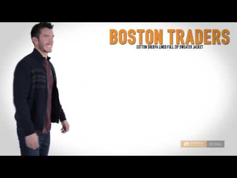 Boston Traders Sherpa-Lined Sweater - Full Zip (For Men)