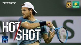 Hot Shot: Sousa Threads Forehand Pass In Indian Wells 2018