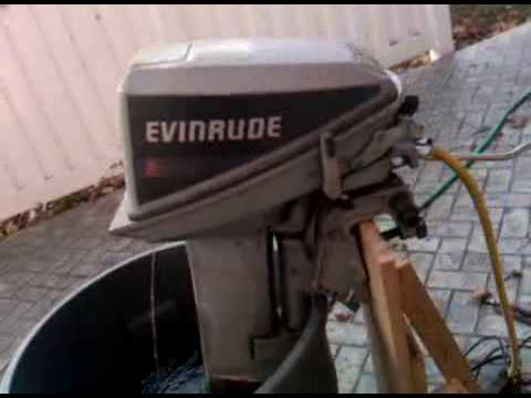 1987 evinrude 9915 idle  YouTube