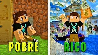 DE POBRE A RICO NO MINECRAFT!