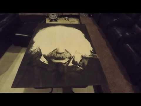Wood Stain Art: Albert Einstein Time-Lapse