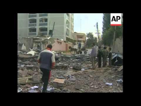Morning scenes in Gaza City, damaged buildings, skyline