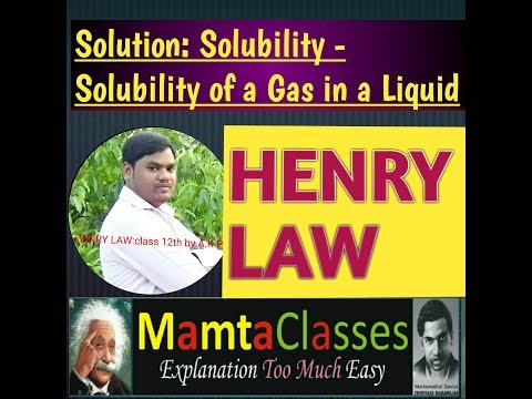Henry's Law Chemistry (12th) by A.K.P Hindi/English