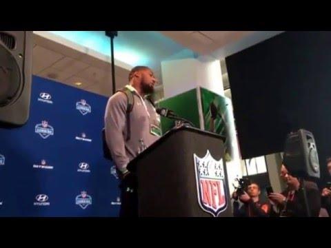 Shawn Oakman Baylor Defensive End Beast NFL Combine #NFLCombine