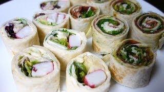 Tortilla Sushi - Norweskie i Włoskie. Szybka przekąska na grubą impreze | Gotuj z Szafą #8