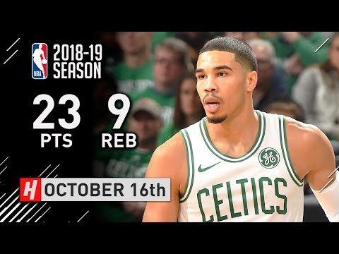 Jayson Tatum Full Highlights Celtics vs 76ers 2018.10.16 - 23 Points, 9 Reb, SICK!