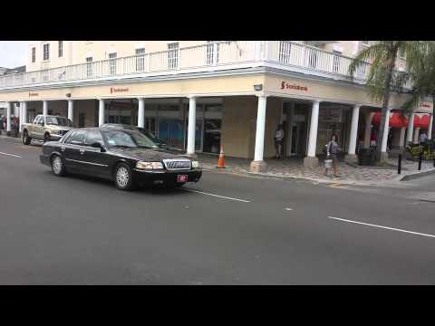 VIP Motorcade Races Through Nassau, Bahamas