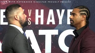 David Haye & Tony Bellew Square-Up Ahead Of May Rematch