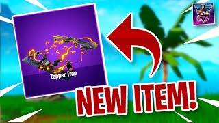 TURBO BUILD IS BACK! NEW ZAPPER TRAP THROWABLE ITEM leaked to come soon in Fortnite Live