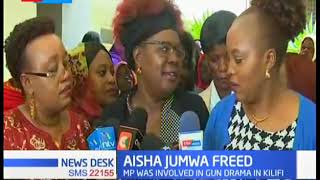 Fiery Aisha Jumwa released as Mps from Jubilee Party condemn the arrest