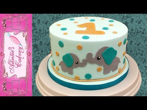 Baby Elephant Smash Cake Tutorial