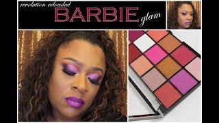 Barbie Glam Using Revolution Reloaded Palette
