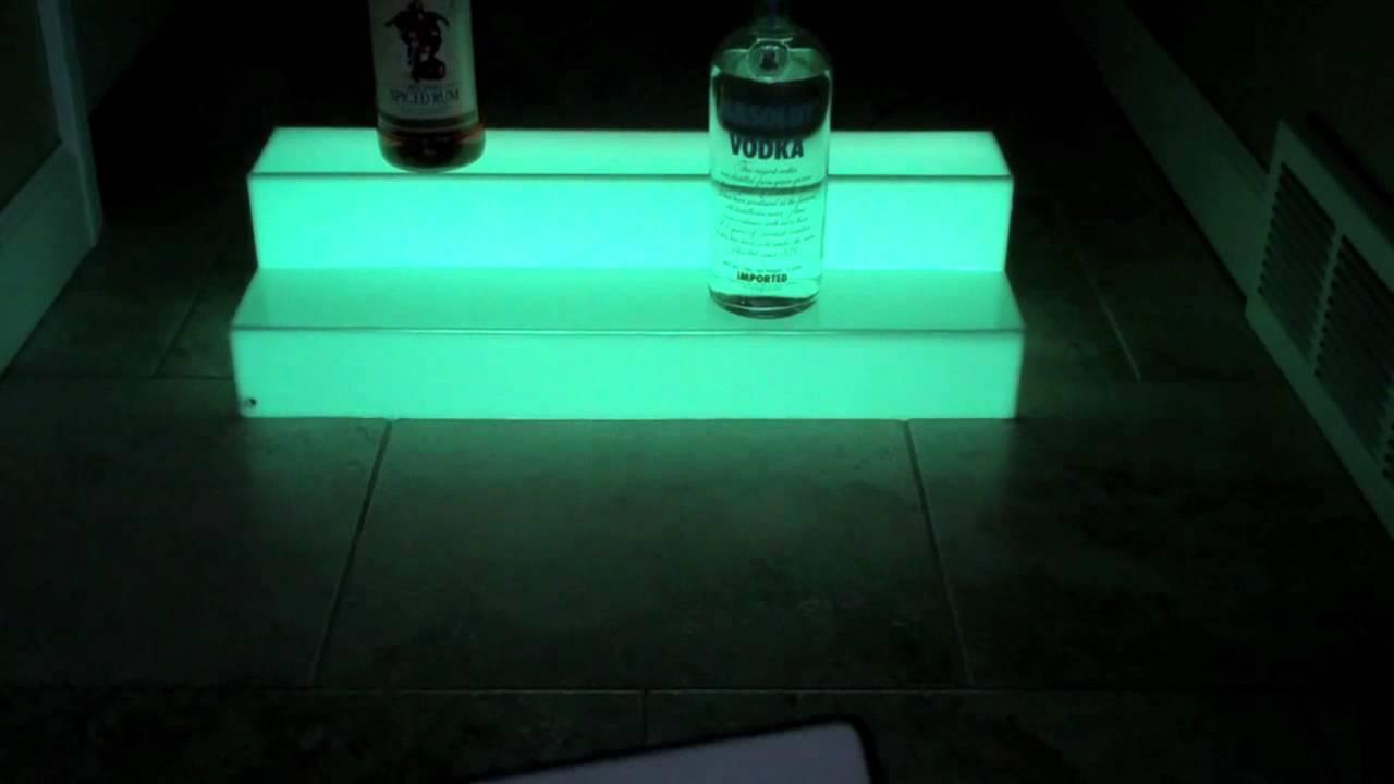 24 Quot Led 2 Tier Light Bar Liquor Bottle Shelf Display Youtube
