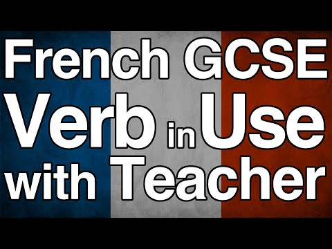 Learn 125 Verb Use for GCSE French with Audrey