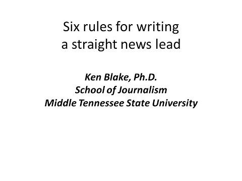 How to write a straight news lead.avi - YouTube