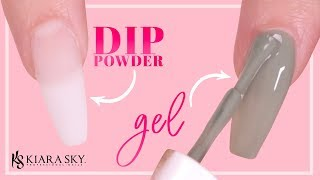 ✅ How to Apply Gel Polish on Dip Powder💅🏼 - Quick Nail Hack
