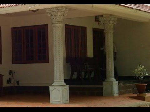 Kerala House Design Work In Car Porch You Pillar Decoration Home