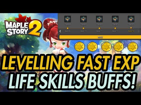 Life Skills - HOW TO LEVEL FAST - Maplestory 2 - Meso Efficiency Guide