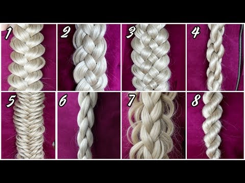 8-basic-braids-|-how-to-braid-for-beginners!-braid-tutorial-on-yourself-by-another-braid