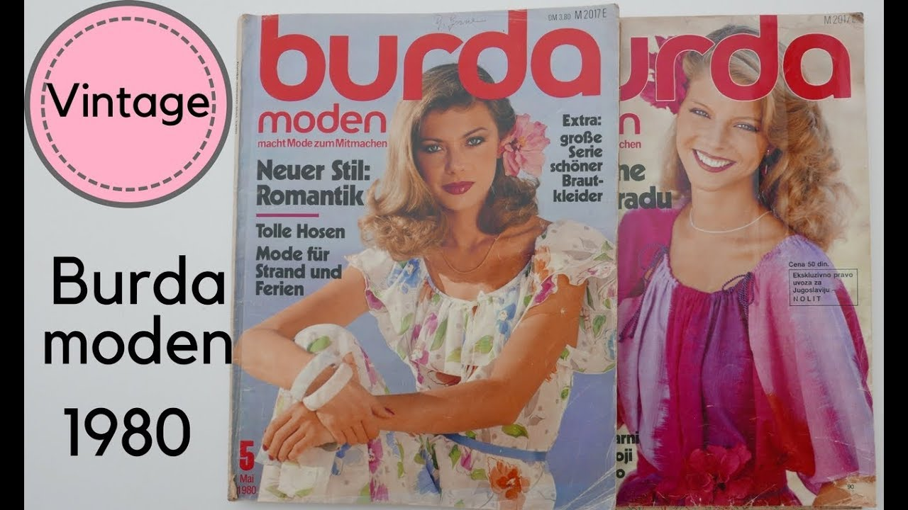 Burda Moden 1980 || Revistas de Patrones Vintage - YouTube