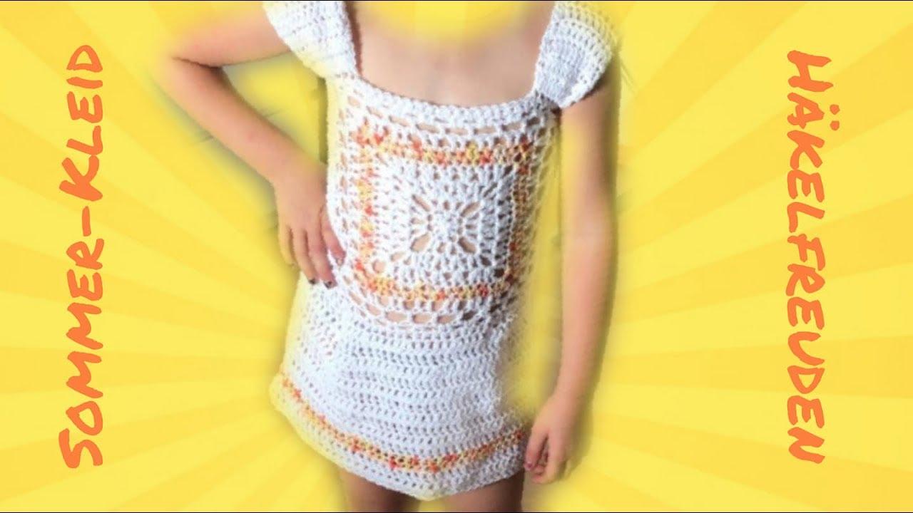 Sommerkleid häkeln ✿ für 3 - 4 Jahre ❤ - YouTube