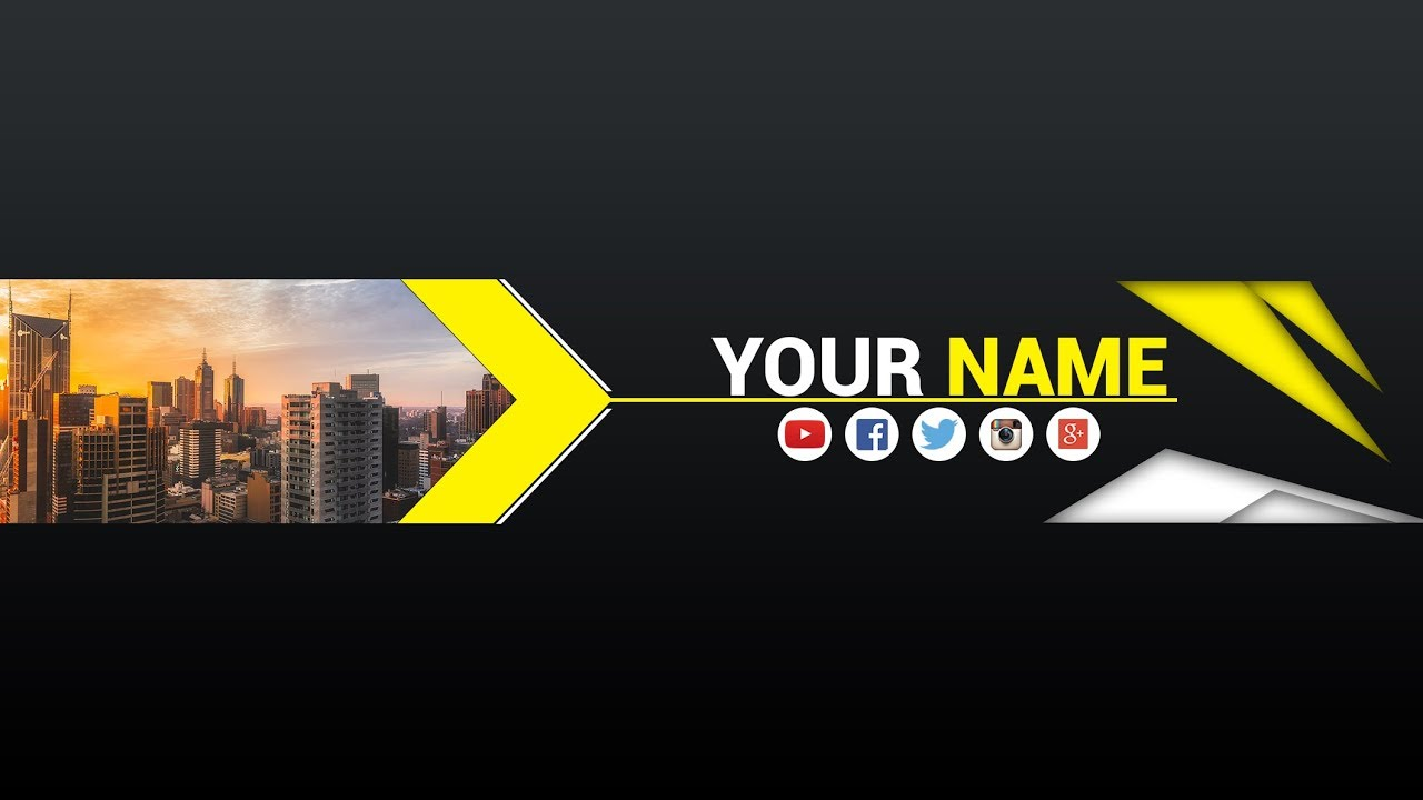 Free Banner Template For Youtube Channel 8 Photoshop I Download