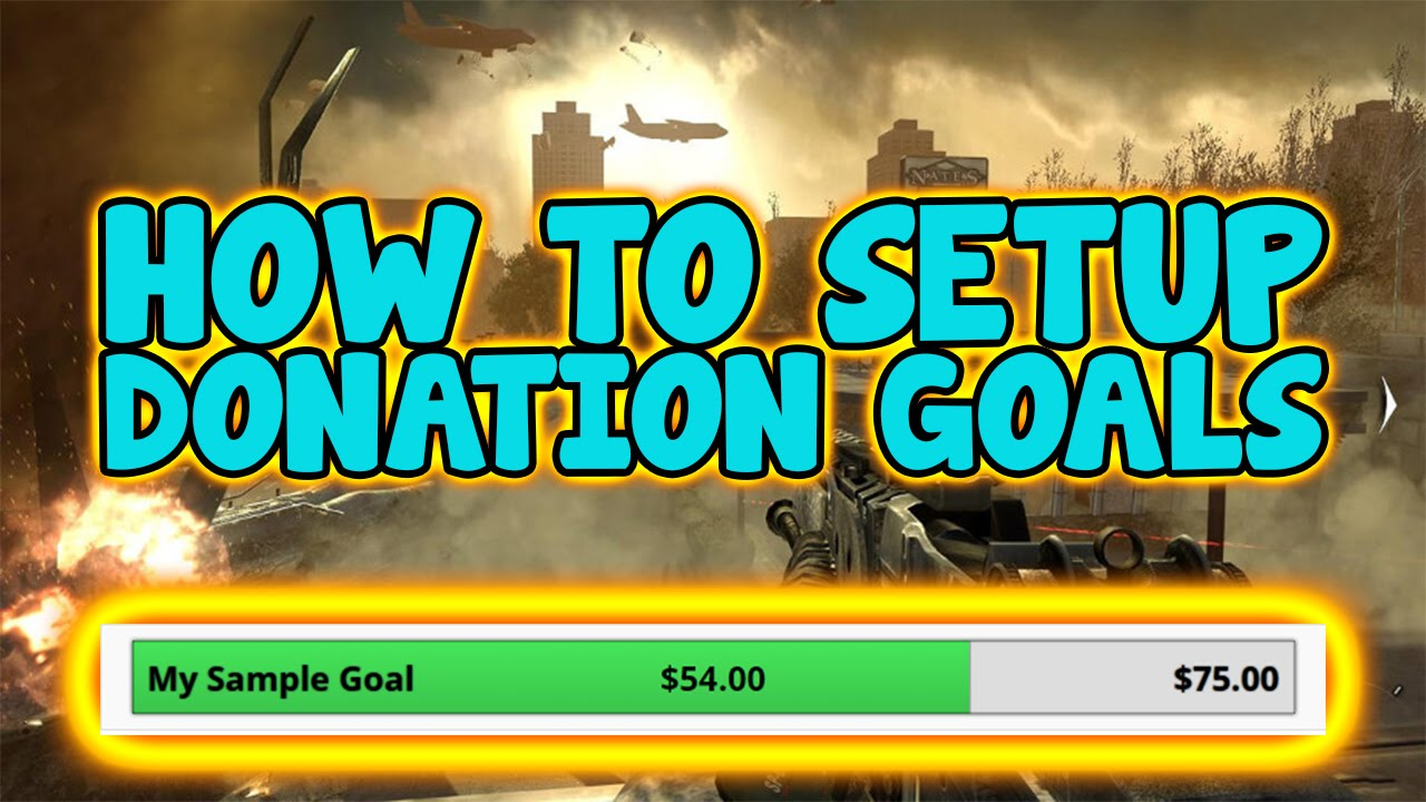 How To: Setup Donation Goal on OBS