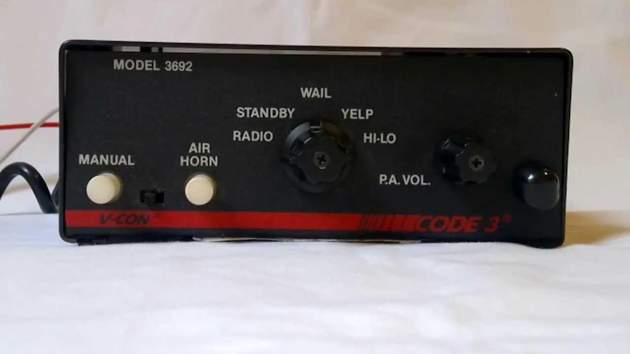 code 3 siren wiring diagram [ 1280 x 720 Pixel ]