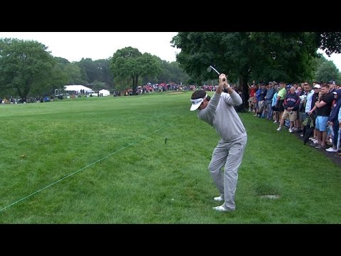 Bubba Watson's sky-high sand wedge sets up birdie at Travelers