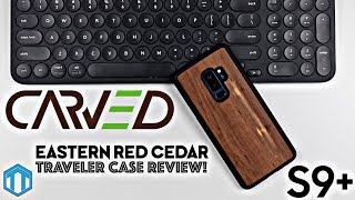 Samsung Galaxy S9 Plus Carved Eastern Red Cedar Wood Case Review!