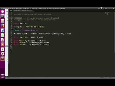 Python Convert String Date Into Datetime Object Format