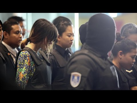 Kim Jong-nam: women accused of murder tour airport where he was killed
