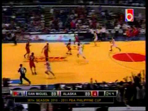 Crazy PBA sequence: Hontiveros for three, Tenorio for the win! (Alaska vs. SMB 12/5/2010)